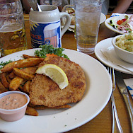 Schnitzel is a favorite in Germany. Flickr:Ernesto Andrade