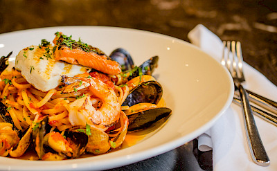 Prawns and mussels and pasta in the French Riviera! Flickr:NwongPR
