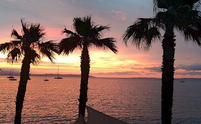Sunset over Hyères, Provence-Alpes-Côte d'Azur, France. Photo via TO