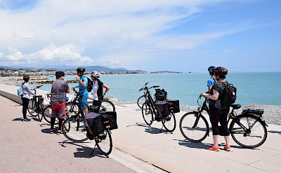 Biking the French Riviera in Nice, France. Photo via TO