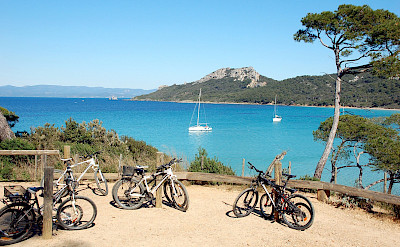 Biking Porquerolles Island in the Provence-Alpes-Côte d'Azur, France. Photo via TO