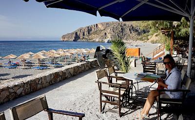 Cafe in Lissos, Crete, Greece. Flickr:Franco Vannini