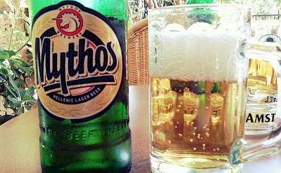 Mythos, local Greek beer. Flickr:Magnus Jonasson