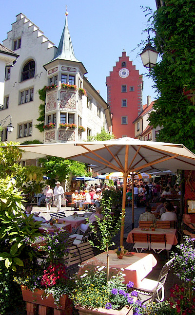 Beautiful Meersburg on Lake Constance. .© TO