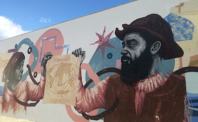 Beautiful murals on this Douro River E-bike Tour. © TO