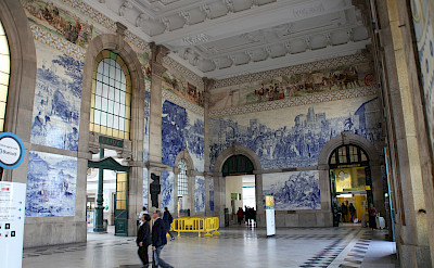 Train station in Porto, Portugal. Flickr:Rick Ligthelm