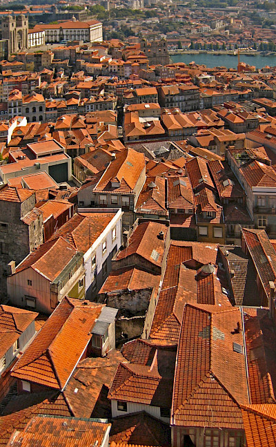 The famous red roofs of Porto, Portugal. Flickr:Harshil Shah