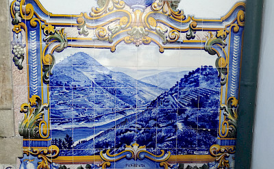 Beautiful tile murals in Porto, Portugal. © TO