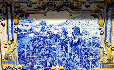 Tile work is gorgeous in the cities of the Douro River Valley. © TO