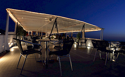 The sun deck at night | Serena | Bike and Boat