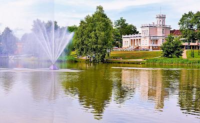 Druskininkai Fountain in Lithuania along the Nemarus River. CC:Juliux