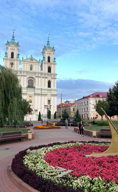 Church of Saint Francis Xavier in Batory's Square, Grodno, Belarus.