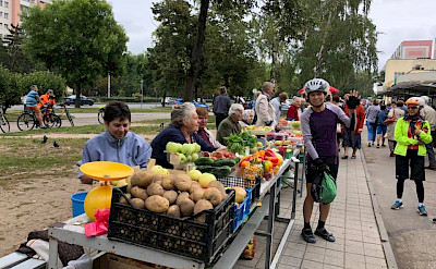 Market in Grodno, Belarus.