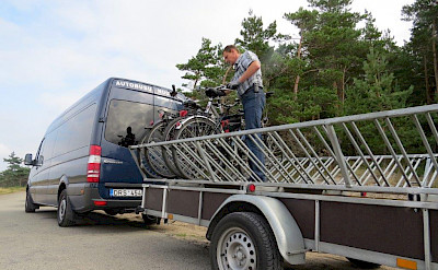 Support vehicle on the Lithuania, Poland & Belarus Bike Tour.