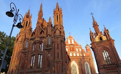 St. Ann Church in Vilnius on the Lithuania, Poland & Belarus Bike Tour.