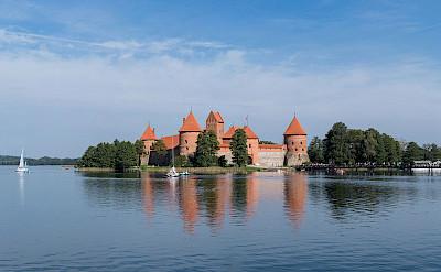 Trakai Island Castle in Lithuania. CC:Diliff