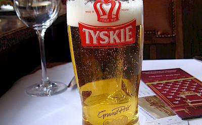 Tyskie beer in Warsaw, Poland. Flickr:Carlos Correa Loyola