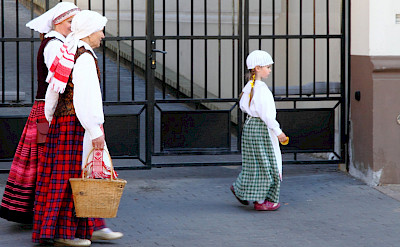 Traditional dress in Vilnius, Lithuania. Flickr:Andreas Lehner