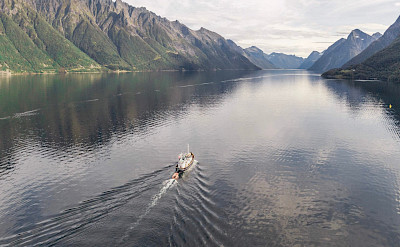 Sailing on the Gåssten - Western Fjords Norway Bike & Boat Tour