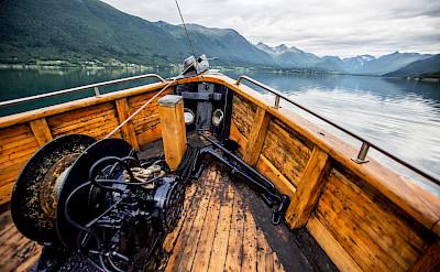 Bow of the HMS Gåssten - Western Fjords Norway Bike & Boat Tour