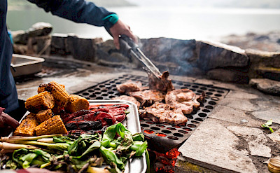 BBQ during the Western Fjords Norway Bike & Boat Tour