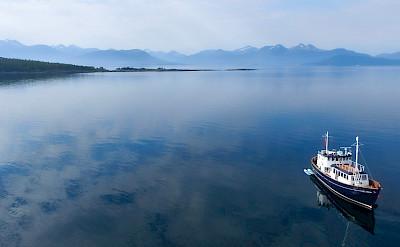 Enjoying the view off HMS Gassten in Norway.