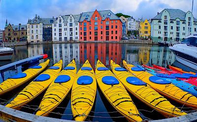 Kayaks in Ålesund, Norway. Flickr:Trine Syvertsen