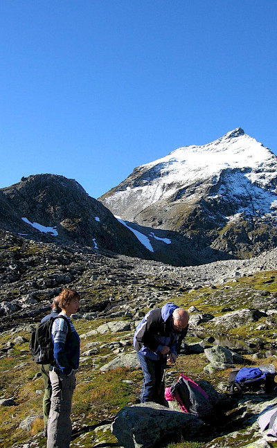 Hiking Slogen, a summit in the Sumøre Alps of Norway. Flickr:color line