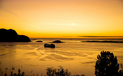 Sunset - Western Fjords Norway Bike & Boat Tour