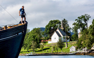 Swimming on the Western Fjords Norway Bike & Boat Tour