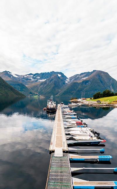 Docked | HMS Gåssten | Bike & Boat Norway Fjords Tour