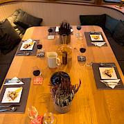 Dining awaits | Gåssten | Bike & Boat Norway Fjords Tour