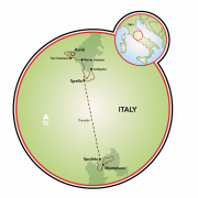 Umbria - Culinary Walking Tour Map