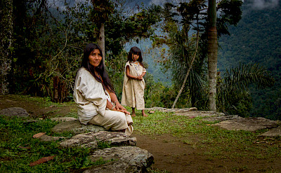 Koguis Tribeswoman & Child at Ciudad Perdida (Lost City) of Colombia. CC:Dwayne Reilander