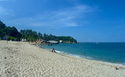 "Playa Cañaveral Beach while hiking Tayrona National Park, Santa Marta, Colombia. Flickr""Bertahan Luxing"