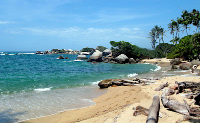 Tayrona National Natural Park along the Caribbean Sea in Santa Marta, Colombia. CC:Ben Bowes