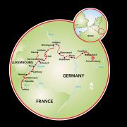 Aschaffenburg to Metz Map