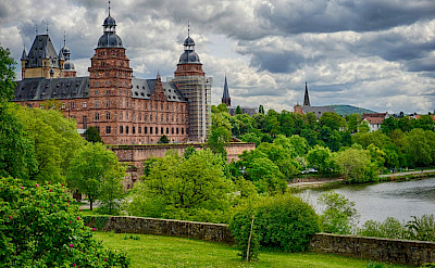 Schloss Johannisburg in Aschaffenburg, Bavaria, Germany along the Main River. Flickr:Lewin Bormann
