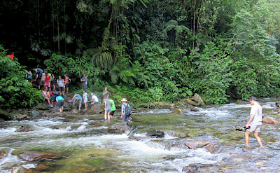 Crossing the Buritaca River in Colombia. Flickr:Peter Chovanec