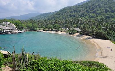 Cabo San Juan, a popular swimming area, in Parque Nacional Tayrona Park in Colombia. Flickr:Jorge Lascar