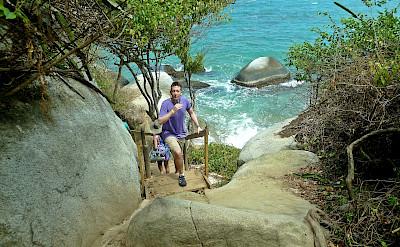 Hiking Tayrona National Park along the Caribbean Sea in Colombia. Flickr:David Shankbone