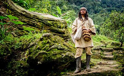 Koguis Shaman at Ciudad Perdida (Lost City) of Colombia. CC:Dwayne Reilander