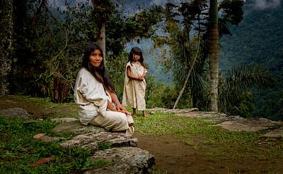 Koguis Tribeswoman & Child at Ciudad Perdida (Lost City) of Colombia. CC:Dwayne Reilander
