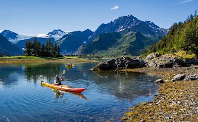 Kayaking at Kenai Fjords in Alaska.