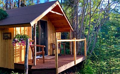 Cabin lodge in Kenai, Alaska.