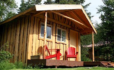 Kenai riverside lodge cabin.