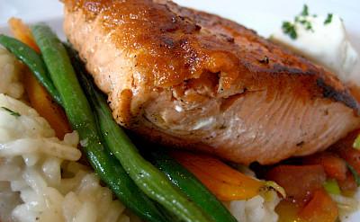 Delicious fresh salmon in Alaska! Flickr:Jeremy Keith