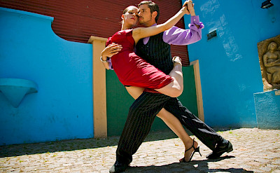 Tango dancing in Buenos Aires, Argentina. ©TO