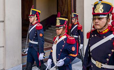 Color guard in Buenos Aires, Argentina. Flickr:Steven dosRemedios
