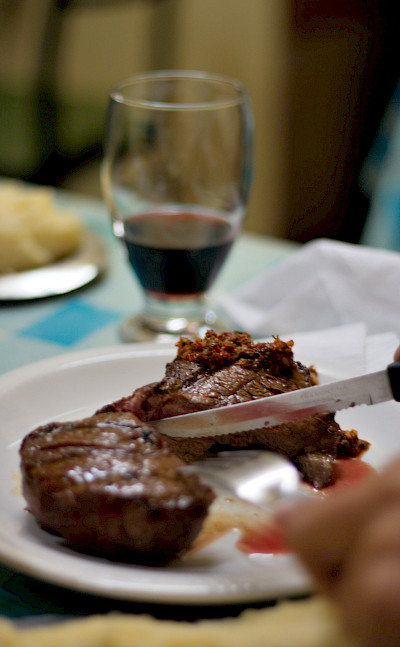 Argentina is known for its beef and wines! Flickr:Christian Haugen